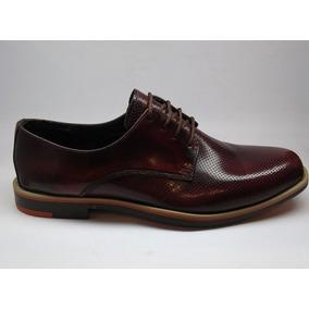 Zapatos De Hombre Cuero Casuales Goma Negro Bordo