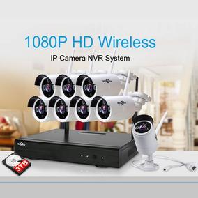 Sistema De Seguridad Camaras Vigilancia Wireles Con Disco 3t