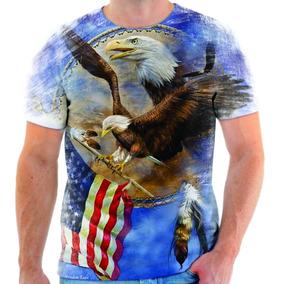 Camiseta Camisa Blusa Águia Azul Estados Unidos Simbolo 02
