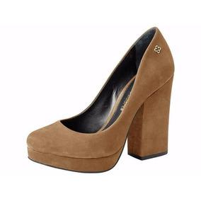 Zapato De Cuero Con Taco Alto, Mujer Capodarte - 4010231