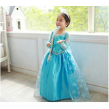 Vestido Disfraz Elsa Frozen + Accesorios Envíos A T. El País