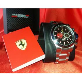 Lindo Relógio Ferrari, Caixa, Manual, Mostrador Preto