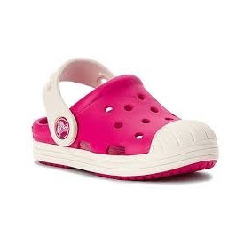 Crocs Niño Bump It Clog Kids Azul Y Blanco Candy Pink/oyster