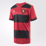 Camisa Do Sport Recife Rubro Negra Listrada Dourada Preta