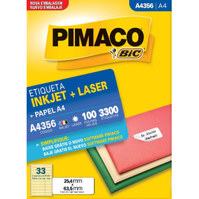 Etiqueta A4356 25,4x63,5mm Ink-jet/laser Pimaco 100 Folhas
