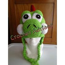 Gorro Yoshi O Mario Bros Super Mario Tejido Crochet