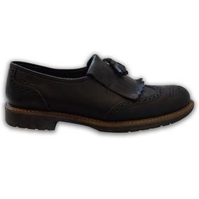 Zapatos John Leopard Bostonianos Agujeta Y Flecos