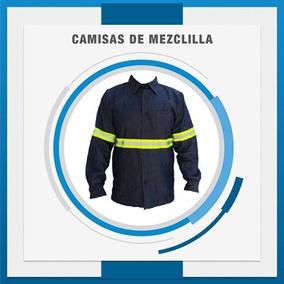 Camisa De Mezclilla 6.5 Oz Con Reflejante