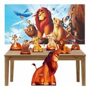 Kit Decoração Festa Aniversário Rei Leão C/ Painel 150x100
