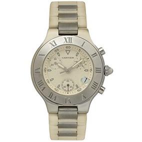 Cartier Must 21 Chronoscaph Cuarzo Reloj Para Hombre 2424 (