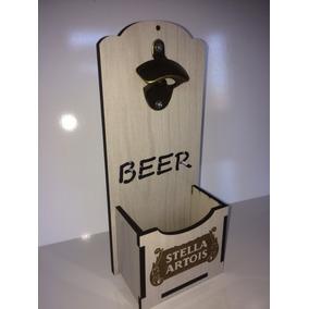 Abridor Garrafa Cerveja Retrô Mdf