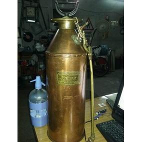 Mata Fuego Extintor Cobre Bronce Ingles $3990 Zona Munro