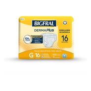 Fralda Bigfral Derma Plus Tamanho G - 16 Unidades