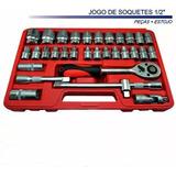 Kit Jogo De Soquetes 1/2 -32 Peças Pcs Cvr Grátis Maleta
