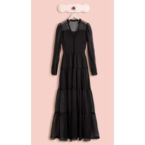 Antix Vestido Entremeio Transparente Com Tag R80677