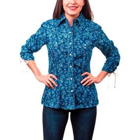 Blusa Vaquera Dama Majo West Azul Mezclilla Bi-439