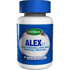 Suplemento Herbax Alex-17, Vitaminas Y Minerales, Cerebro