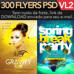 Flyer Psd 300 Flyers Para Adobe Photoshop Premium Vol 2
