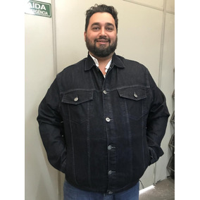 Jaqueta Jeans Masculina Plus Size Pequenos Defeitos