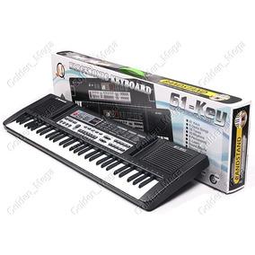 Teclado Musical Infantil-61 Teclas, Usb, Microfone