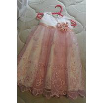 Vestido Niña 1 Año Hermoso!!!!!!!! Diseño Exclusivo!!!