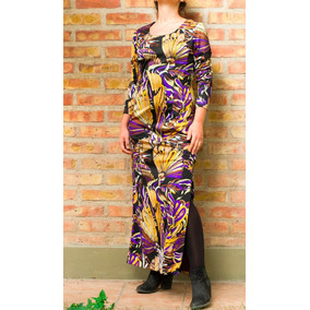 Vintage Hippie Maxidress 70´s Vestido Floreado