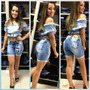 Bermunda Ciclista Empinar Bumbum Rasgada Owzzy Jeans