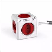 Powercube Vermelho Extended 5 Tomadas Pwc-x5 Filtro De Linha
