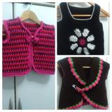 Conjunto De Chalecos De Lana Talle 8 Crochet