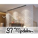 Painel Decorativo Mdf Cru 50cm X 50 Cm Elemento Vazado