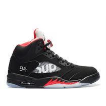 Air Jordan Retro 5 X Supreme Todas Las Tallas En Caja