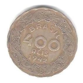 Moedas Antigas - 400 Réis 1942 (vargas) Níquel Rosa