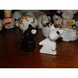 Par Saleiros Bull Terrier Miniaturas De Porcelana P/ Coleção