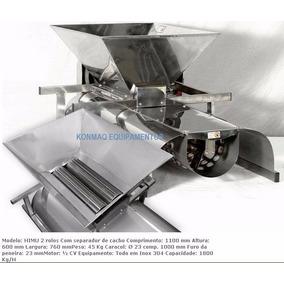 Máquina P/ Moer Uva Debulhadora 2 Rolos Inox Desengaçadeira