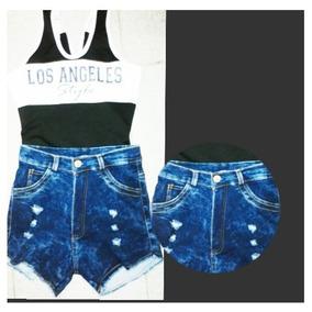 Short Jeans Alto Dama/ Pantalón Moda