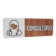 Placa Indicativa Para Porta De Consultório Em Mdf