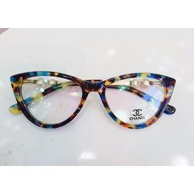Armação Óculos De Grau Chanel Pérolas Acetato Tartaruga