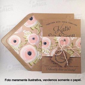 200 Folhas Papel Kraft 200g A4 P/ Convite Casamento Rústico