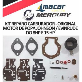 Kit Reparo Carburador Motor De Popa Johnson Evinrude 8 15hp