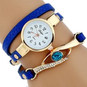 10 Relojes Mayoreo Brazalete Zafiro Mujer Moda Dama A568