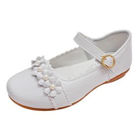 Sapato Branco Verniz Boneca Menina Noivinha Daminha Batizado