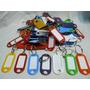 Llaveros Plasticos Tarjeteros Identificadores X 100 Unidades