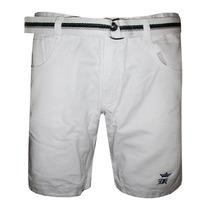 Bermuda Jeans Sergio K Bege Lisa Com Cinto