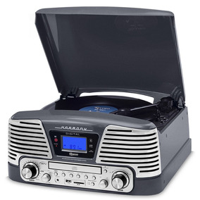 Vitrola Retrô Raveo Toca Discos Sd Cd Fm Bluetooth Harmony