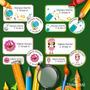 Etiquetas Escolares Personalizadas Resistentes Agua X 116 Un