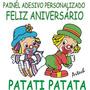 Patati Patata Painél Adesivo Decorativo Feliz Aniversário