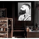 Cuadro Barber Shop Estilista Modelo Peluqueria Shave 20x30cm