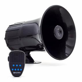 Sirene Automotiva 7 Tons Microfone Sons + Botão Interruptor