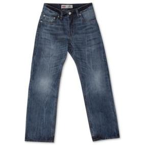 Jeans Levis 505 Regular Azul Oscuro Talla 10 Slim - 6 Slim