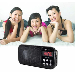 Tarjeta Usb/tf Negra Mp3 Radio Fm Pantalla Led Arroz Sd-102